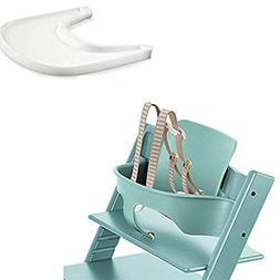 Stokke Tripp Trapp Baby Set - Aqua Blue & Tray - White