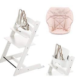 Stokke Tripp Trapp with Baby Set, White & Mini Baby Cushion,