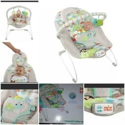 Bright Starts Vibrating Bouncer Seat with Melodies - Happy S