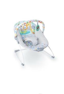 Bright Starts Vibrating Bouncer Seat with Toy Bar - Safari F