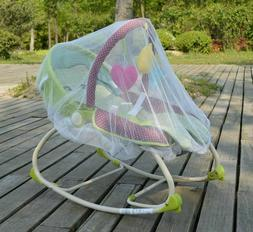 White Mosquito Bugs Net Mesh Cover for Baby Graco Infant Roc