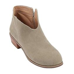 women boots square heel solid